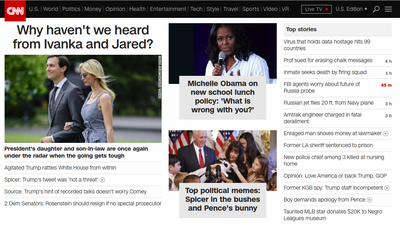 CNN website screenshot